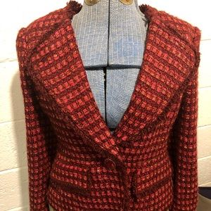Size to Tory Burch tweed blazer